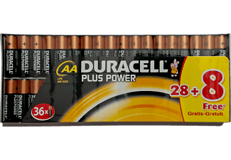 DURACELL Plus Power AA Batterie 28+8 Pack