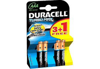 DURACELL Turbo Max Alkalin AAA 4 Adet İnce Kalem Pil