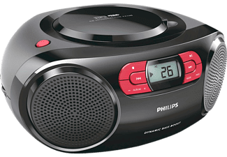 Radio CD - Philips AZ2345/12, Negro