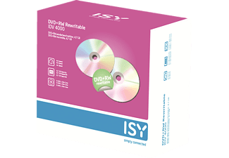 ISY IDV-4000 DVD+RW 5er Pack Slim Case, DVD+R