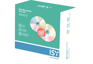 ISY IBD-1000 BD-R 5er Pack Jewelcase Blue-ray Disc