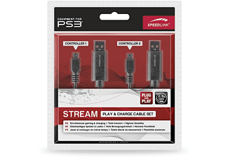 SPEEDLINK Charge PS3 kabelset Zwart