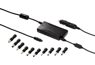 HAMA Notebook Power Supply for Cars and Lorries - Alimentation pour ordinateur portable (Noir)