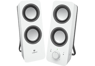 Altavoces PC- Logitech Z200 Multimedia Speakers, 2.0, 10W, color blanco