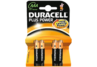 Pilas AAA - Duracell Plus Power LR03, 4