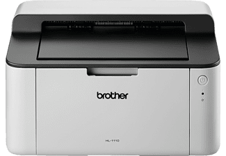BROTHER HL-1110, Laserdrucker (s/w), Grau
