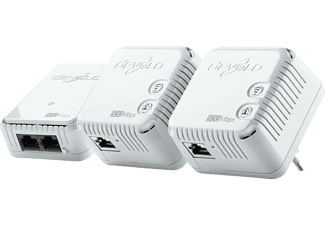 Adaptador PLC - Devolo DLAN 500 Network Kit, WiFi N, 500Mbps