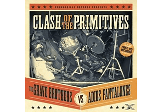 Grave Brothers, Adios Pantalones - Clash Of The Primitives (Split Albu - (CD)