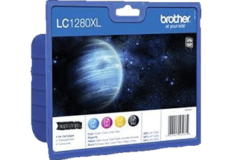 BROTHER LC-1280XL Blister Noir - Cyan - Magenta - Jaune