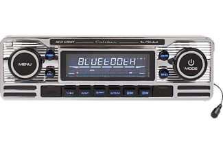 CALIBER Autoradio RCD120BT im Retro Design, silber