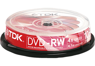 TDK 10PACK DVD-RW 4.7 GB Cakebox