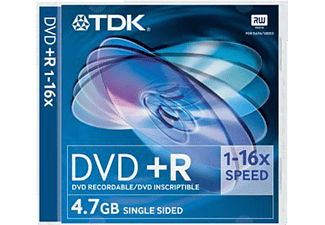 TDK Pack 5 DVD+R 4,7 GB 16X