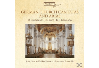 René Jacobs, The Kuijken Consort, The Parnassus Ensemble - Deutsche Kirchenkantaten Und Arien - (CD)