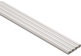 HAMA PVC Cable Duct, semicircular, 100/0.6/0.7 cm, White - (00020570)