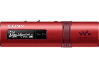 SONY NWZ-B183R, MP3 Player, 4 GB, Akkulaufzeit: 23 Std., Rot
