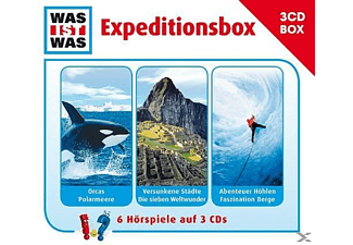 WAS IST WAS Expeditionsbox - 3 CD - Kinder/Jugend