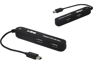 S-LINK SL-U92 USB Mini 5pin M to 4 Port Otg Hub