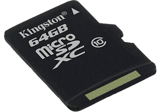 KINGSTON microSDXC 64GB Class 10 - (SDCX10/64GB) με αντάπτορα SD