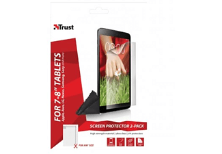 TRUST 2-Pack Universele Screenprotectors 7-8""