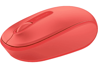 Ratón inalámbrico - Microsoft Wireless Mobile Mouse 1850, rojo, nano transceptor plug-and-go