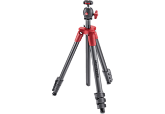 MANFROTTO MKCOMPACTLT-RD, Stativ, Rot