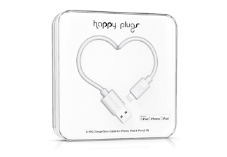 HAPPY PLUGS Lightning till USB-kabel - Vit