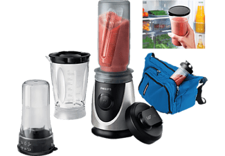 PHILIPS HR2876/00 Daily Smoothie Mix & Go silber/schwarz