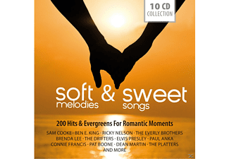 VARIOUS - Soft Melodies + Sweet Songs / 200 Hits + Evergreens For Romantic Moments (10 Cd Collection) - (CD)