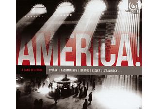Jerusalem Quartet, Rochester Philh. Orchester, Frederic Chiu - America! Vol.1-A Land Of Refuge - (CD)