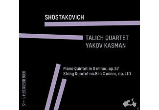 Talich Quartet, Yakov Kasman - Piano Quintet In G Minor, Op. 57 / String Quartet No. 8 In C Minor, Op. 110 - (CD)