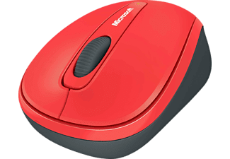 Ratón inalámbrico - Microsoft Wireless Mobile Mouse 3500, BlueTrack, color rojo