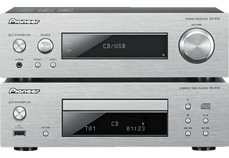 PIONEER XC-P01-S, Compact Component HiFi-System, 150 Watt, Silber