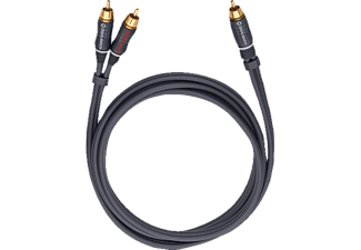 OEHLBACH 23703 BOOM Y-Adapter Kabel 3m, Y-Cinch-Kabel, 3000 mm, Anthrazit