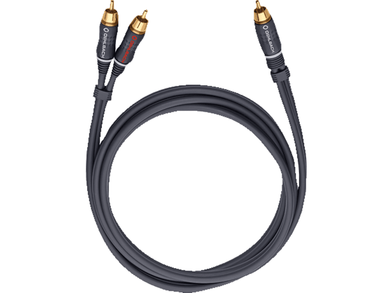 OEHLBACH  23705 BOOM Y-Adapter Kabel 5m Y-Cinch-Kabel, Anthrazit | 04003635237052