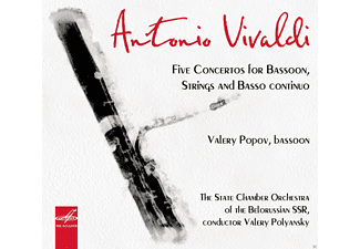 Valery Popov, Valery Polyansky, The State Chamber Orchestra of the Belorussian - Five Concertos For Bassoon,Strings And Basso Continuo - (CD)