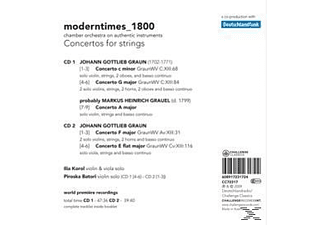 Modern Times 1800 - Concertos For Strings - (CD)