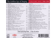 VARIOUS - The Golden Age of Singing Vol.1,1900-1910 [CD]