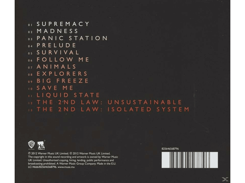 Muse - THE 2ND LAW [CD]