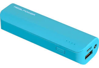 REALPOWER PB-2600, Powerbank, 2600 mAh, Blau