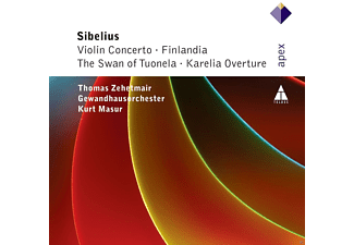 Thomas Zehetmair, Gewandhausorchester, Kurt Masur - Violin Concerto / Finlandia / The Swan Of Tuonela / Karelia Overture [CD]