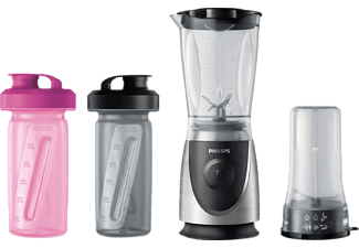 PHILIPS Standmixer HR2877/08 Daily Smoothie Mix&Go Duo