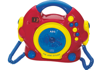 AEG. CDK 4229, CD Player, Rot/Gelb/Blau