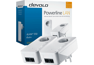 DEVOLO 9297 dLAN® 550 duo+ Starter Kit Powerline Powerline Adapter, Weiß