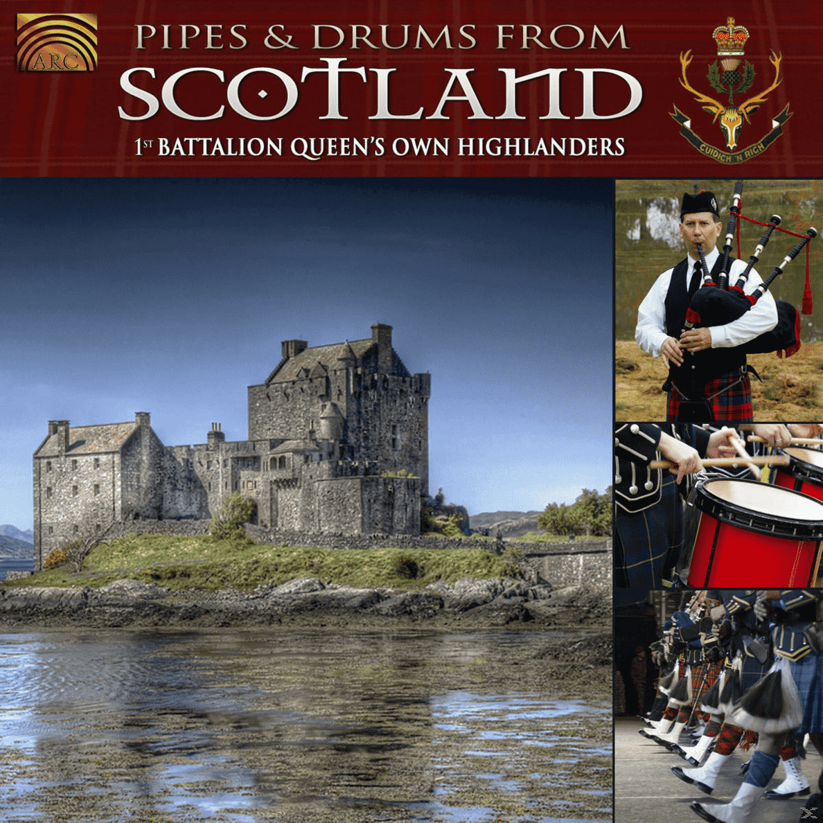 The 1st Battalion Queen´s Own Highlanders - Pipes & Drums From Scotland - (CD)