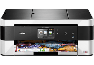 BROTHER MFC-J4625DW + 1 Patrone LC223BK Extra, 4-in-1 Tinten-Multifunktionsdrucker, Weiß/Schwarz