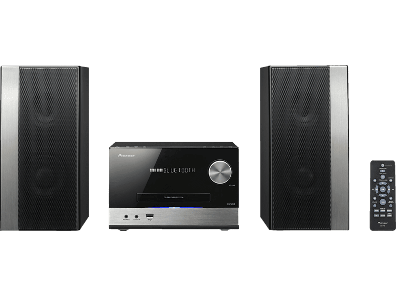 PIONEER X-PM12 Kompaktanlage (CD, CD-R/-RW, USB, Bluetooth Audio Stream, Schwarz)