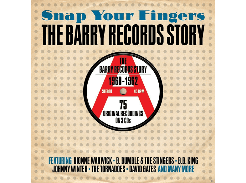 VARIOUS - Snap Your Fingers-Barry Records Story 1960-1962 [CD]
