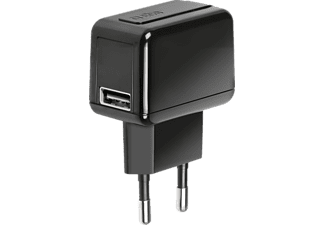 SBS MOBILE Travel charger 1000 mAh with USB port Black