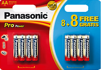 PANASONIC BATTERY AA-Batterijen 8+8 (LR6PPG)
