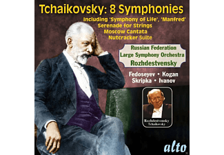 Large Symphony Orchestra Of The Ministry Of Culture, Moscow Radio Symphony Orchestra, Moscow Radio Orchestra, Choir of Moscow Radio, Moscow State Symphony Orchestra, Russian State Cinematographic Orchestra - Tschaikowsky: Die 8 Sinfonien - (CD)